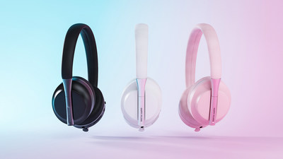 Happy Plugs Play, kids antimicrobial, vegan friendly headphones with safe audio