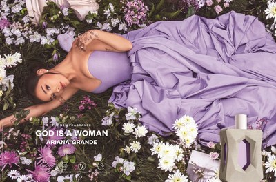 Grammy® Award Winning and Multi-Platinum Artist Ariana Grande Enters the Clean Beauty Category with the Launch of God is a Woman, a New Fragrance Inspired by the Power of Nature (PRNewsfoto/LUXE Brands)