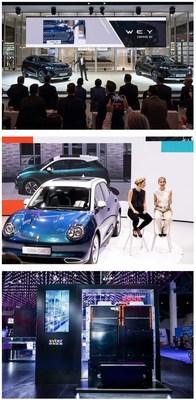 GWM presenta sus nuevos automóviles en IAA Mobility 2021 para aprovechar el mercado de la nueva energía en Europa con una ventaja pionera (PRNewsfoto/GWM)